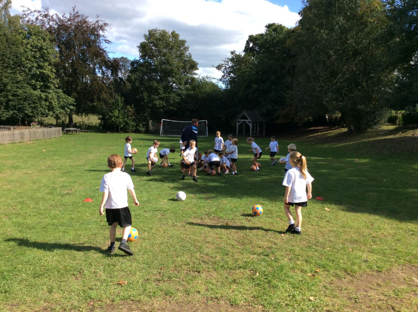 Year 2 pupils working with Aspire coaching